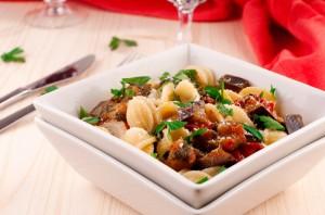 Pasta with aubergine