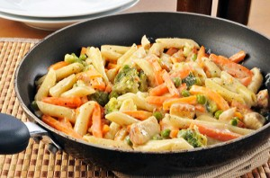 Chicken alfredo stir fry