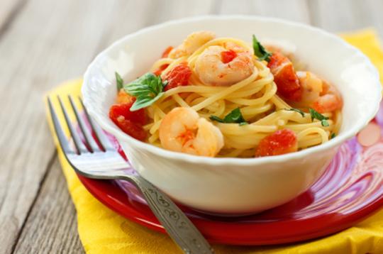 Спагетти с морепродуктами простой рецепт