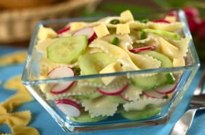 Паста-салат с редиской
