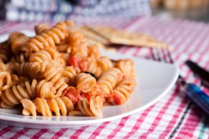 Fusilli with tuna