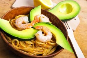 Spaghetti with shrimps