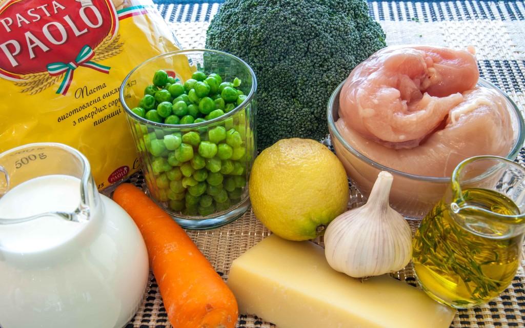 Інгредієнти для пасти